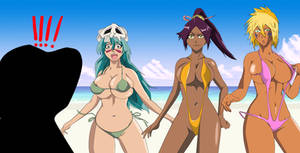 Bleach nel yoruichi halibel bikini group