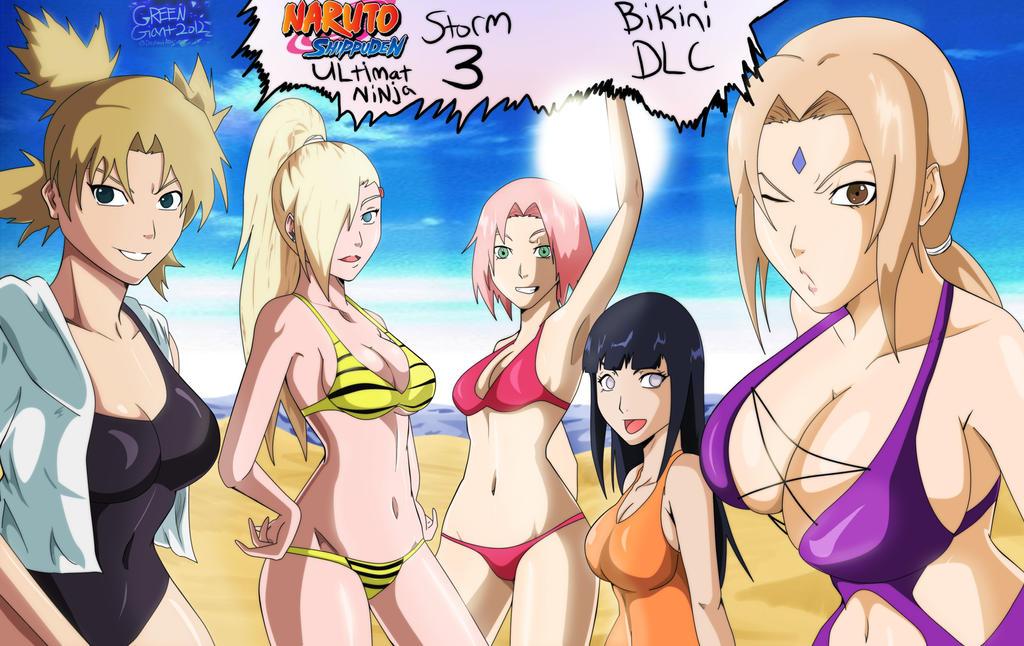Naruto bikini DLC Tsunade,Temari,Hinata,Sakura,Ino by greengiant2012