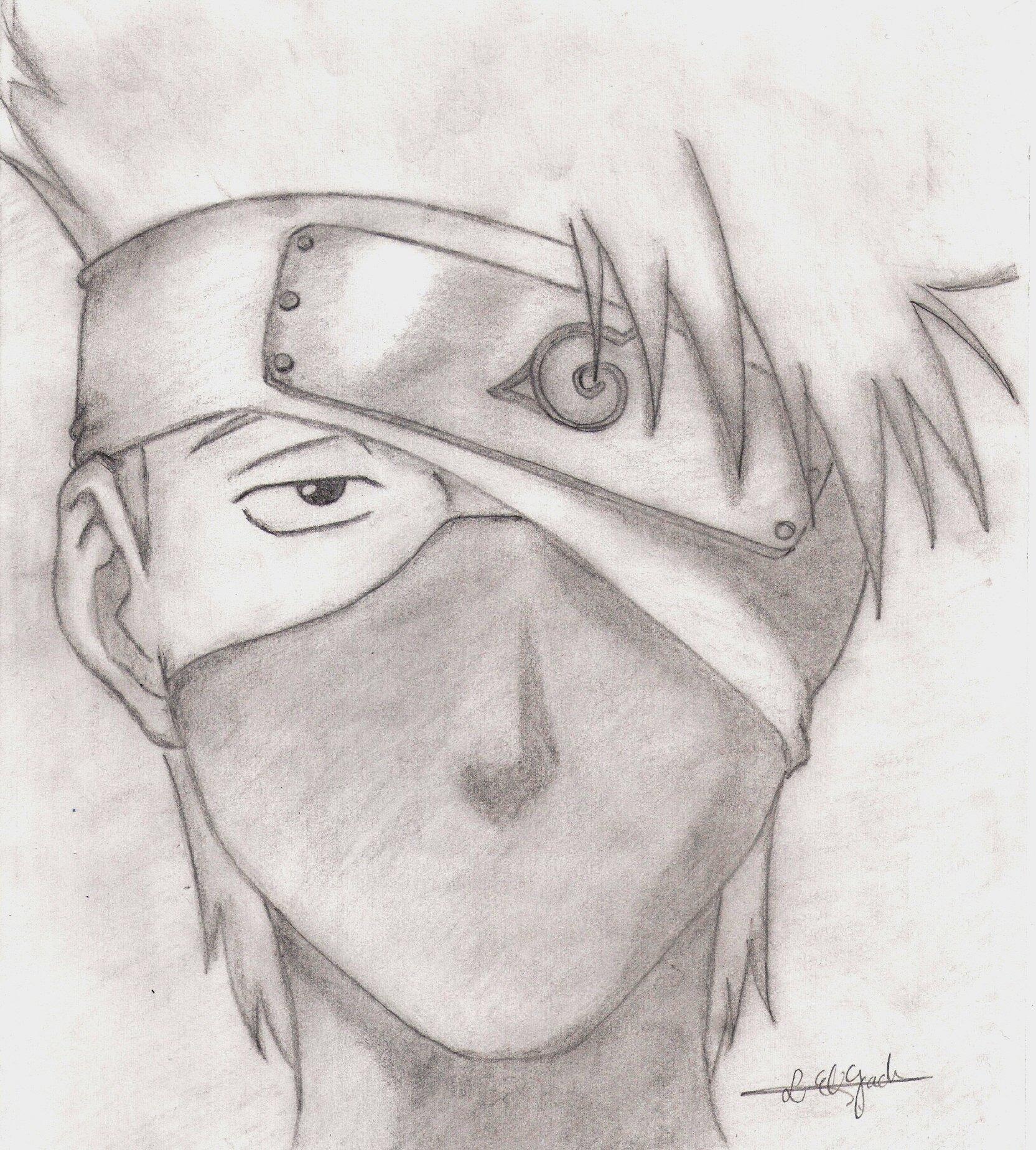 300 Gambar Anime Naruto Keren Hitam Putih