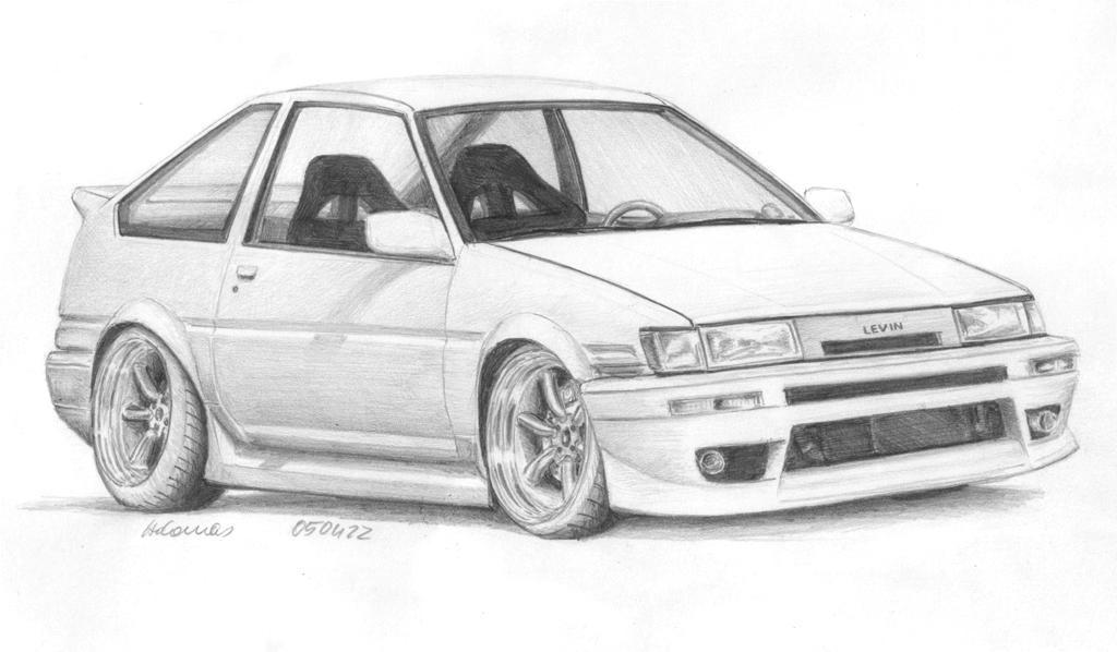 corolla coloring pages | Toyota Corolla AE86 Levin by adomz on DeviantArt