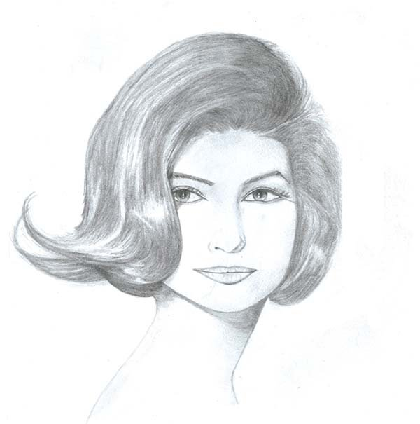 how to draw 1960 hair greaed