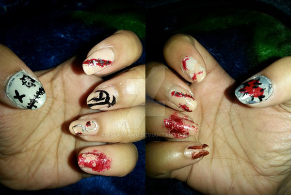 VIXX Voodoo Doll Inspired Halloween Nails by Tsuk1y4m4