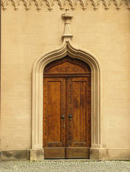 Old Wooden Library Doors by antragonDE