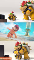 Shirtless Mario