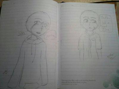 Sim and some random guy by ShadowWolf30303