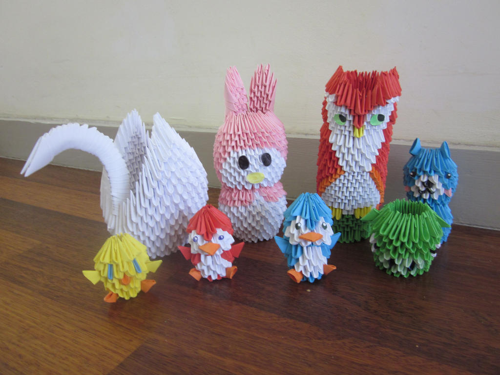 3d origami collection by itspam on deviantart 3d origami collection by itspam jeuxipadfo Gallery