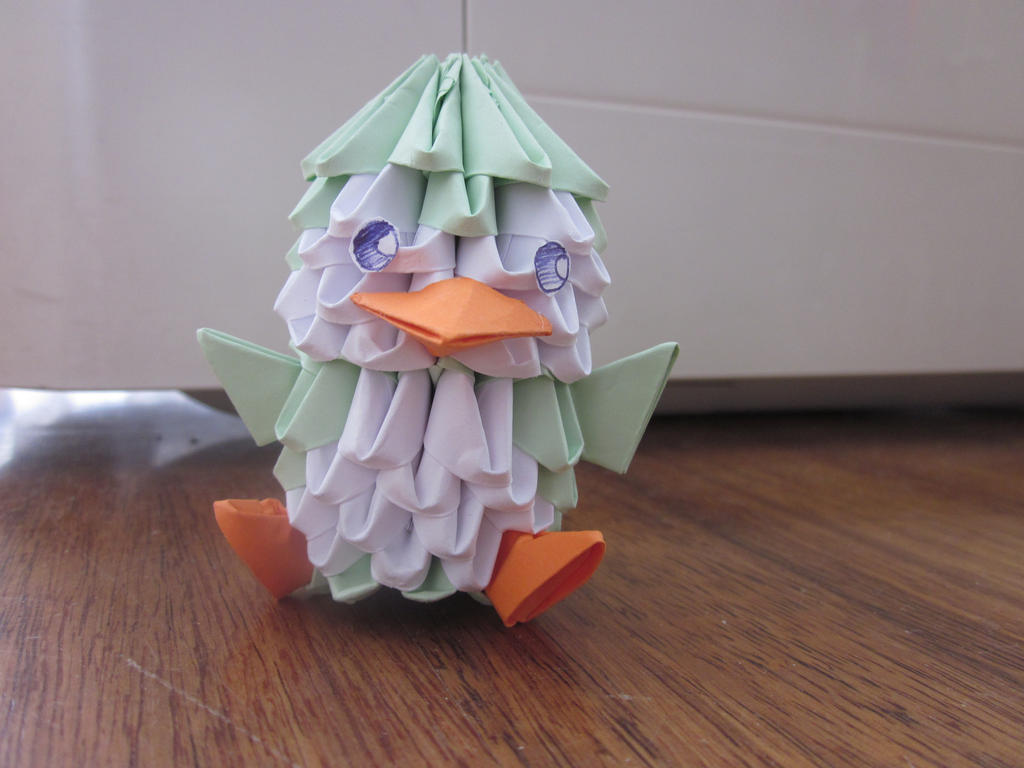 another 3d origami penguin by itsPam on DeviantArt - photo#10