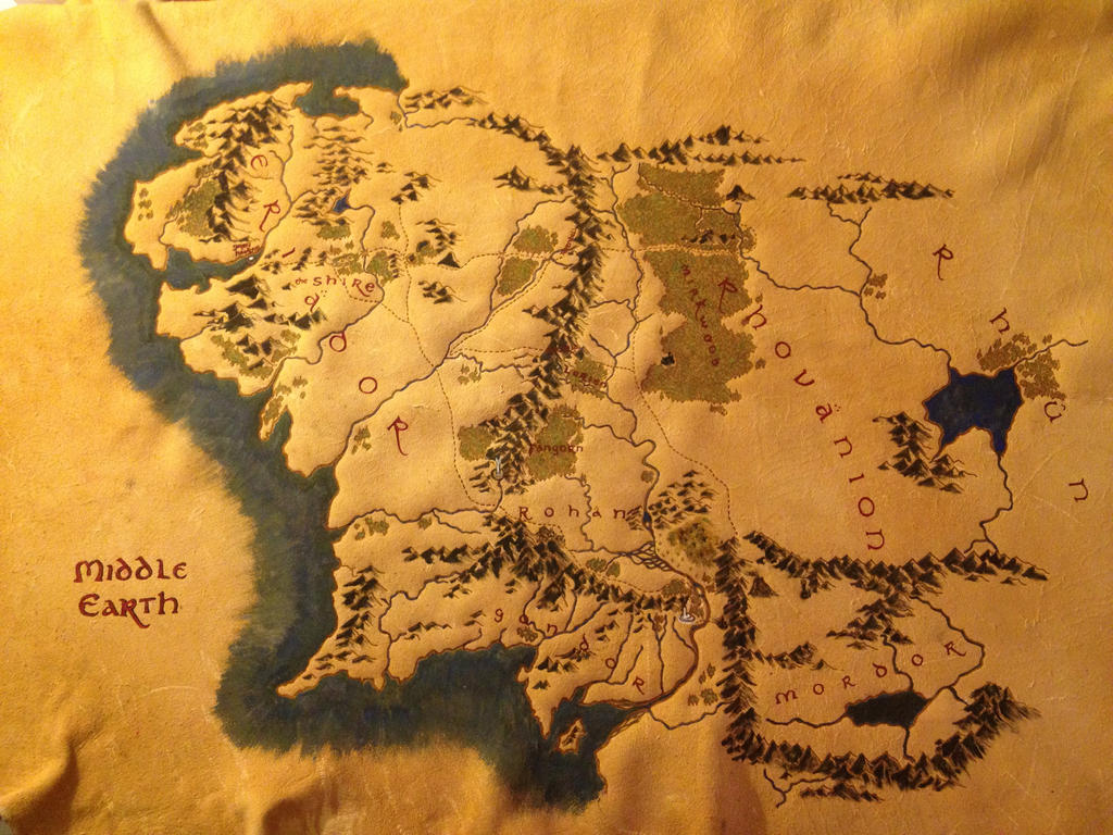 Middle Earth Map by TwoWolvesKM
