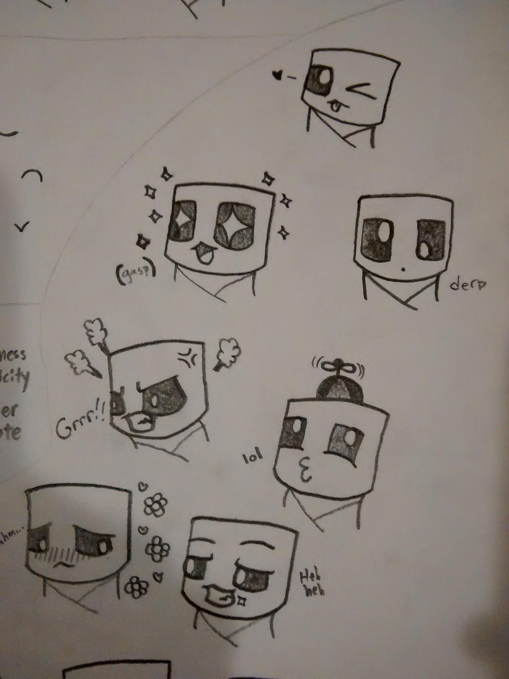 how to draw a creeper face