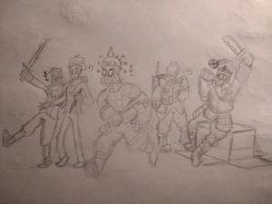 TF2 Loadout Gang - Rough Sketch