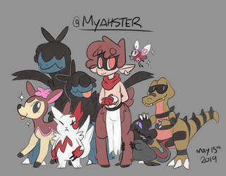 Myahster and his Pokemon team