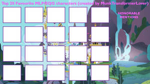 Top 20 Favourite MLP/EQG Characters 2.0 BLANK by MunkTransformerLover