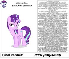 MLP Villain Ranking: STARLIGHT GLIMMER by MunkTransformerLover
