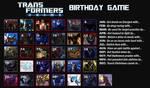 Transformers: Prime Birthday Game by MunkTransformerLover