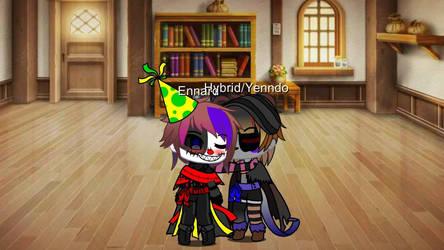 Ennard x Hybrid/yenndo- Kiss on Cheek