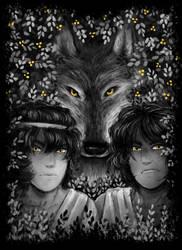 Romulus and Remus by BandaDai