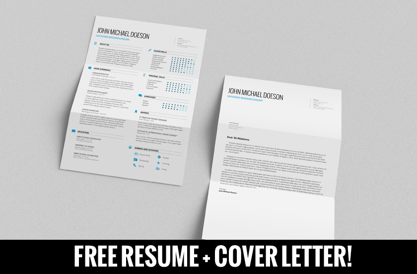 FREE Resume + Cover Letter By Demorfoza ...