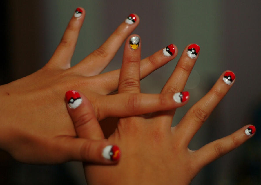 Pokeball Nails By Coco Bean66 On Deviantart