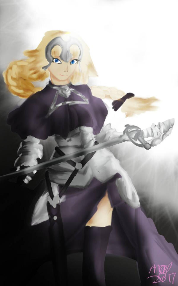 Joan of Arc painting (Fate Franchise) by 0AngelBeast0