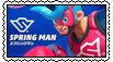 Spring Man Stamp by JIMBOYKELLY