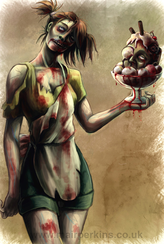 Zombie Waitress by tifachan