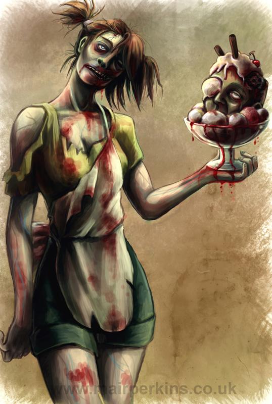 Zombie Waitress by tifachan