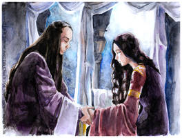 Elrond and Arwen by tifachan