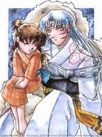 Sesshoumaru and Rin by tifachan
