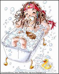 Rub A Dub Tub by tifachan