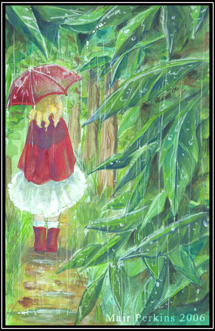 Little Red Umbrella by tifachan