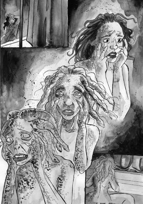 an analysis of the story of medusa Complete summary of sylvia plath's medusa enotes plot summaries cover all the significant action of medusa the monstrous, distorted mother-figure is rejected so that the self may find freedom.