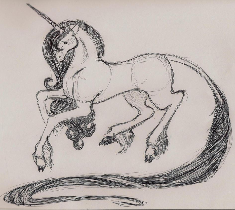 Unicorn Sketch Unicorn Sketch By Zeldaluver27 On Deviantart