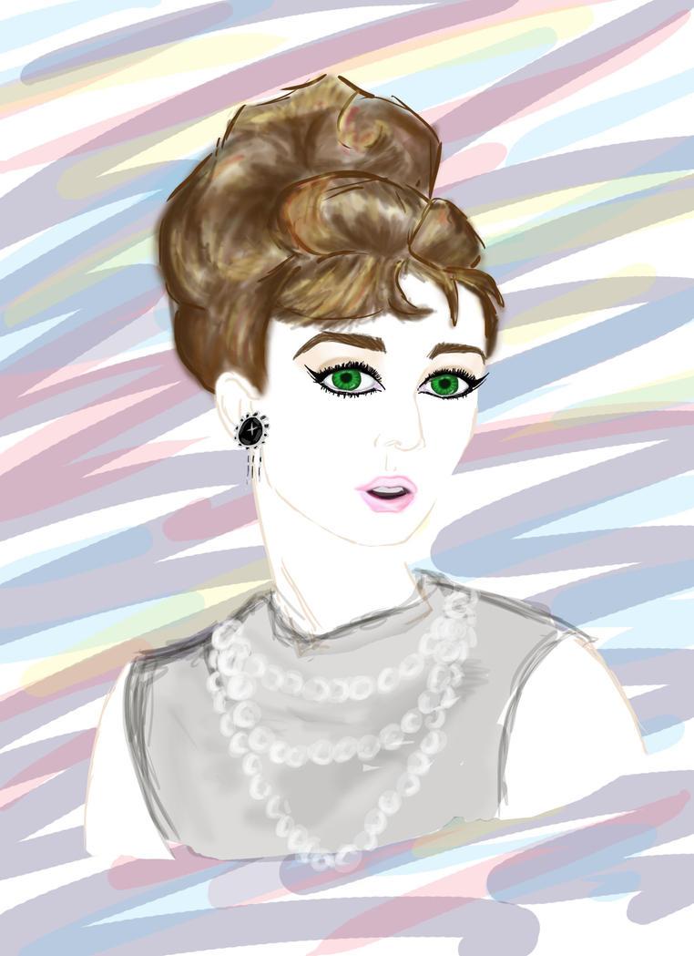 Audrey Hepburn by zeldaluver27