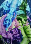 Playfull mermaids