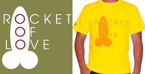 rOcket Of lOve T-shirt print by typoholics