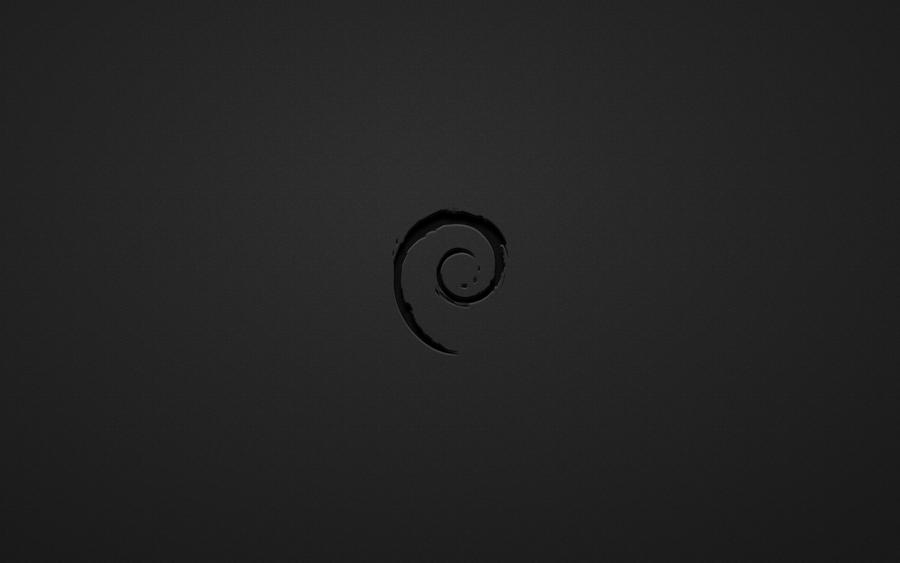 Debian Black White Wallpaper