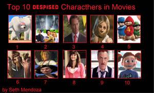 Top 10 Personajes que odio en las peliculas by sethmendozaDA