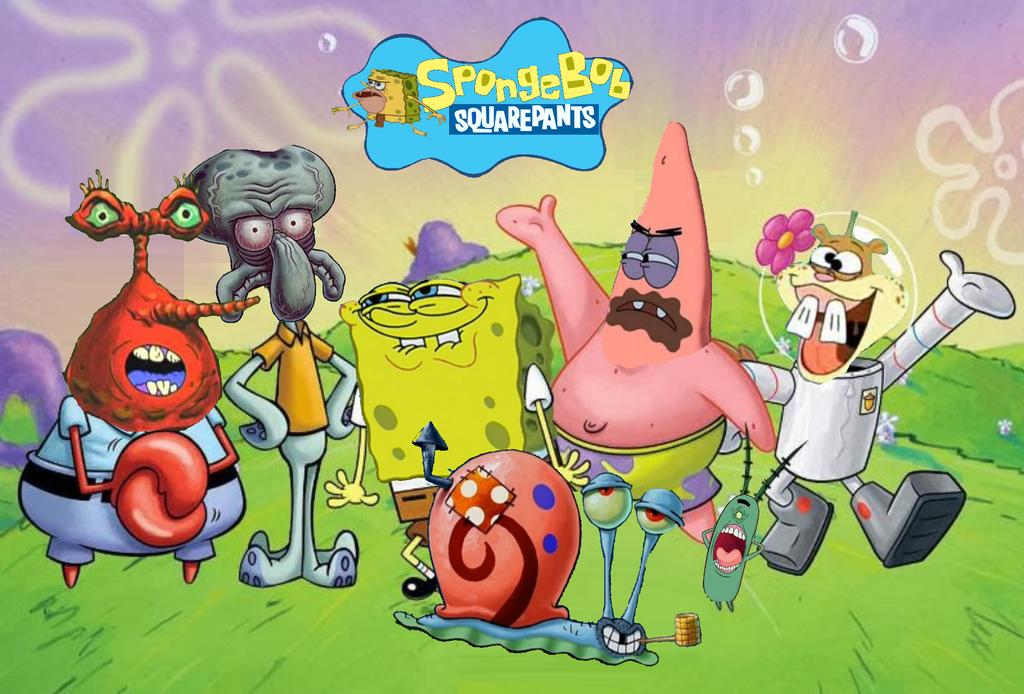 Spongebob Meet Bendy Deviantart: SpongeBob Squarepants Bizarre Version Wallpaper By