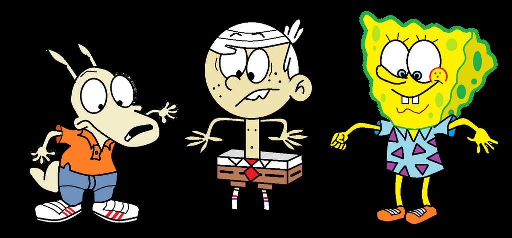 Rocko Lincoln And Spongebob Clothes Swap By Sethmendozada