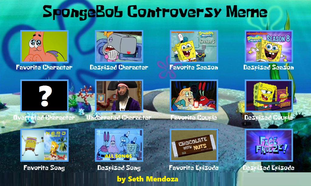 Spongebob Controversy Meme Updated By Sethmendozada On