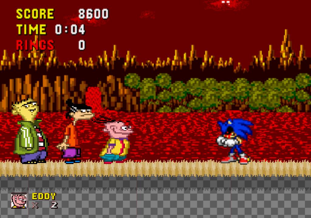 Ed, Edd n Eddy meet Sonic.exe by sethmendozaDA