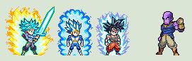 Goku, Vegeta and Trunks Vs. Thanos
