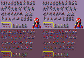 New Mecha Mario - Mini Sprite Sheet UPDATE