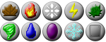 :: Elemental Icon Set :: by vikifanatic