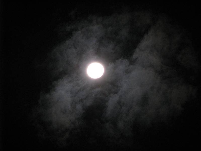 Moon and clouds 01
