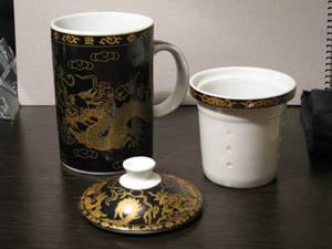 Tea Mug Black Dragon 02