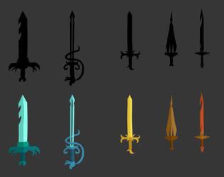 Some Swords by Emma-Robo300