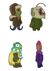 Sea Characters by Emma-Robo300