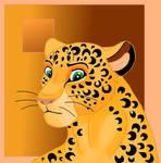Lion king-style leopard