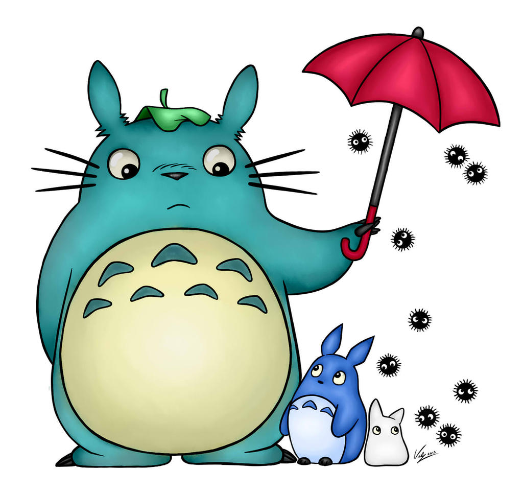 Totoro Umbrella Colored by Valkyrie131 on DeviantArt